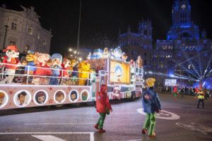 Seguimiento de la carroza Clan en la cabalgata de Reyes de 2017