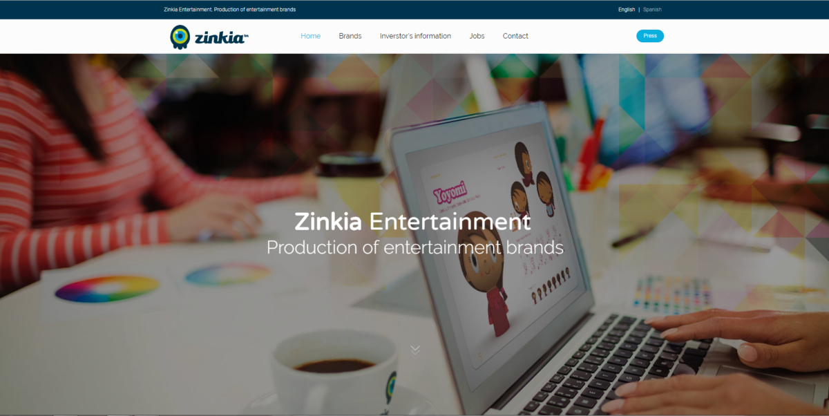 Zinkia launches its new website
