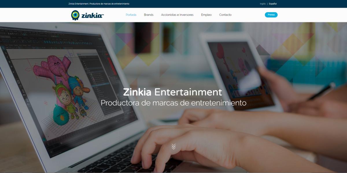 Zinkia estrena su nueva web