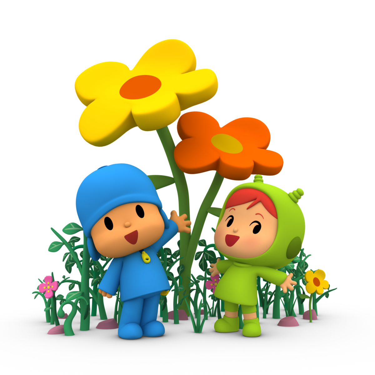 Pocoyo and Nina for the first time in Juvenalia