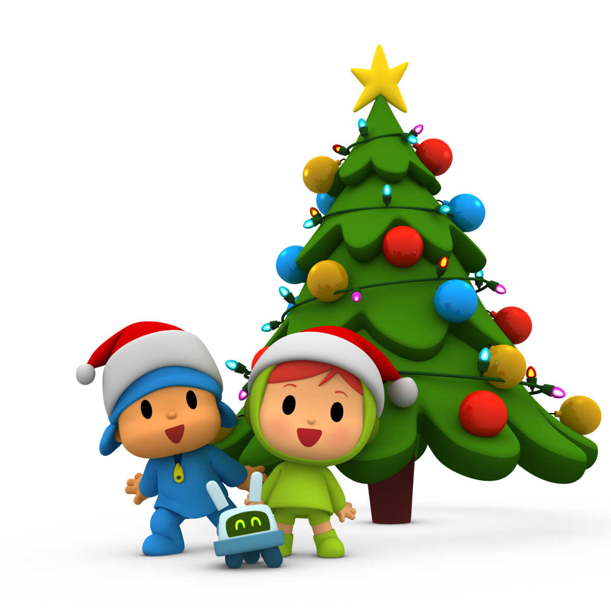 Pocoyo and Nina celebrated the beginning of Christmas in H2O!