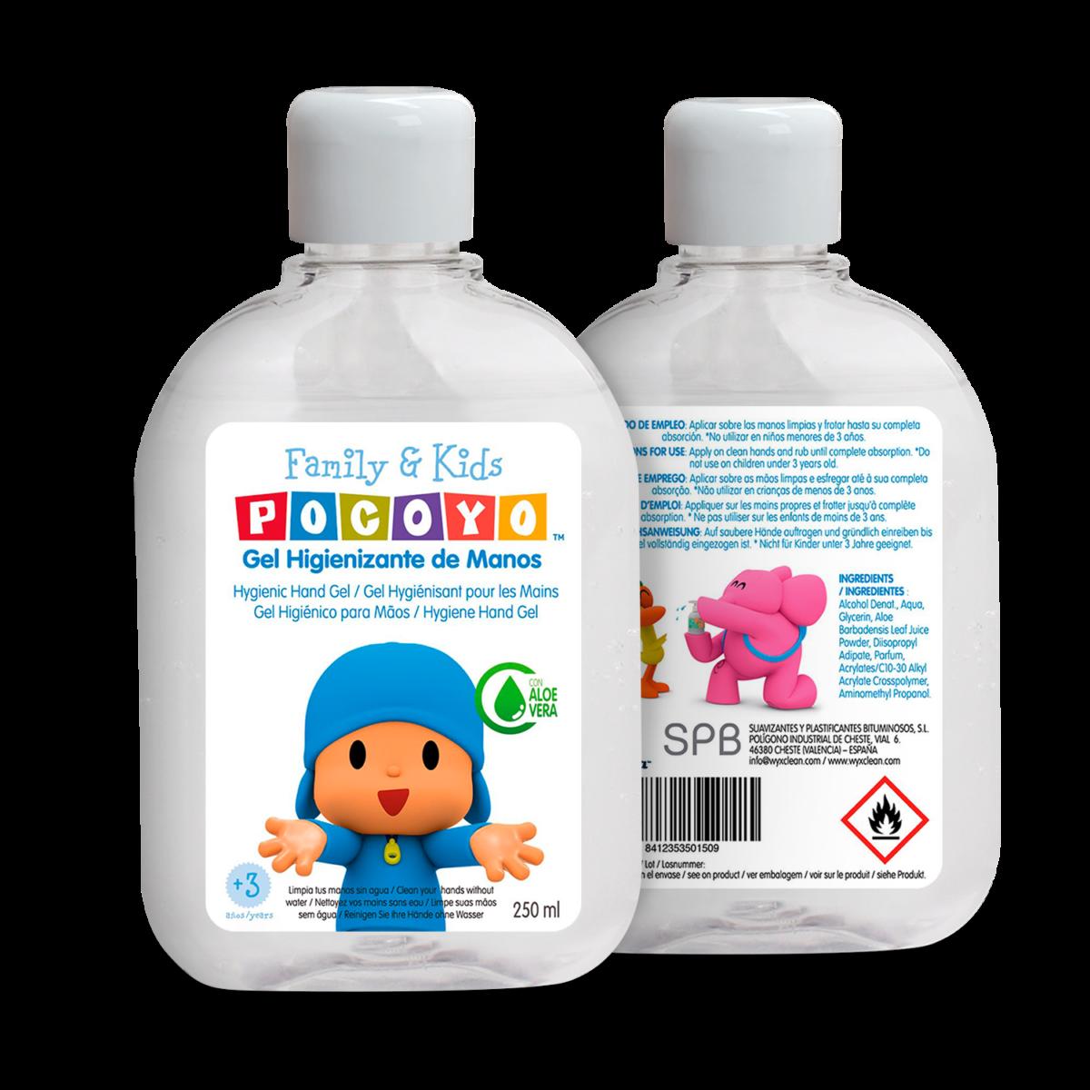 Gel higienizante y mascarillas de Pocoyó para los más pequeños