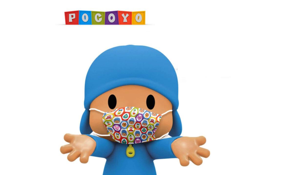 Nuevas mascarillas de Pocoyó para protegerles y protegernos