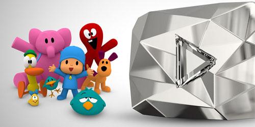 """""""Diamante"""" para el Canal oficial de Pocoyó en español en YouTube"""